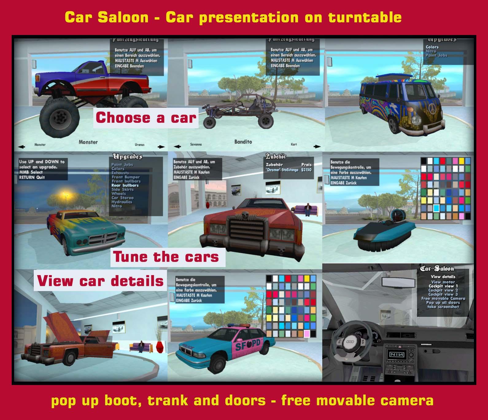 Car Saloon In Ottos Autohouse (GTA San Andreas)